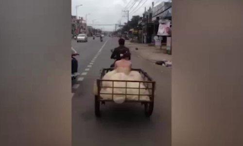 'Chú rể đón nàng về dinh bằng xe kéo' hài nhất tuần qua