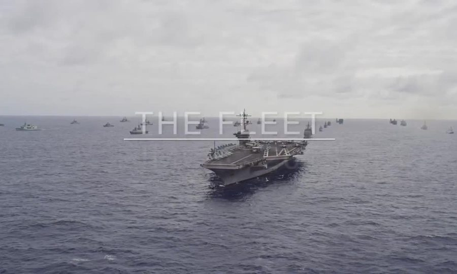 Màn diễu hành kế thúc diễn tập RIMPAC của 51 chiến hạm