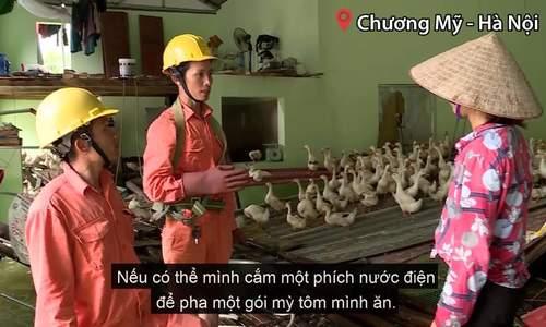 Ngập kéo dài, hơn nghìn hộ dân Hà Nội bị cắt điện cả tuần