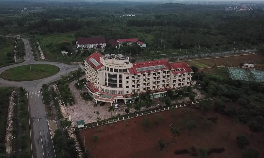 Toàn cảnh khu Đại học Quốc gia Hà Nội tại Hoà Lạc
