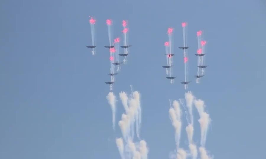 Máy bay Triều Tiên xếp đội hình mừng 70 năm quốc khánh