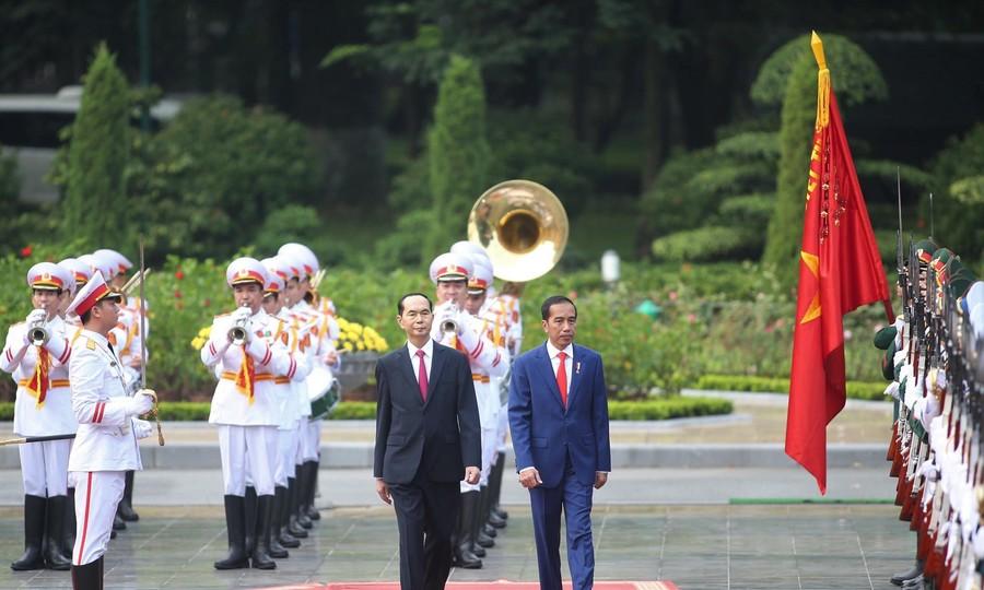 Chủ tịch nước chủ trì lễ đón Tổng thống Indonesia