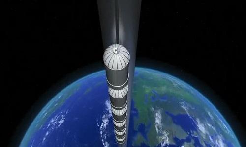 Thiết kế thang máy vũ trụ của Nhật Bản