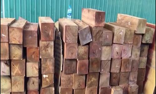 27m3 gỗ quý nguỵ trang bằng giấy phế liệu