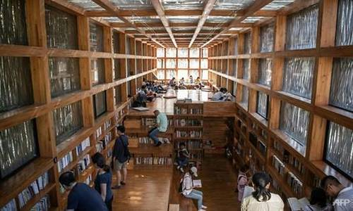 Thư viện gỗ thu hút mọt sách ở ngoại ô Bắc Kinh