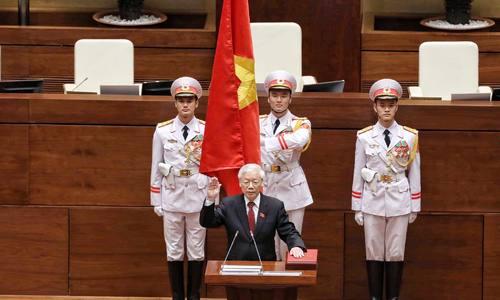 Tổng bí thư Nguyễn Phú Trọng truyên thệ nhậm chức Chủ tịch nước