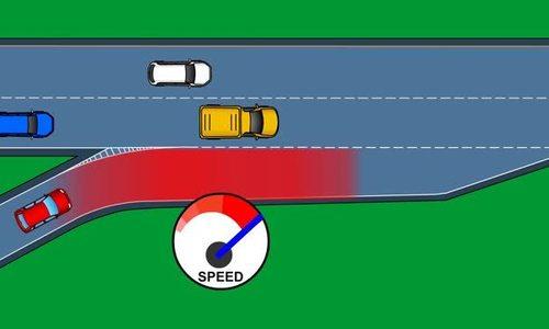 Tăng tốc cùng tốc độ với xe khác