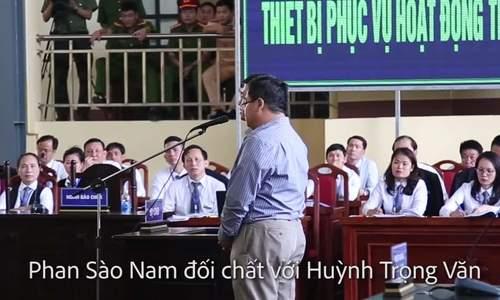 Phan Sào Nam tại toà chiều 16/11