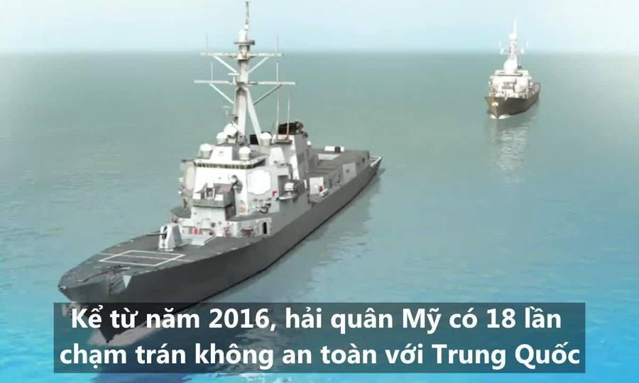 18 lần chạm trán giữa hải quân Mỹ - Trung trong hai năm qua