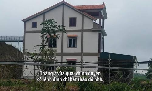 Người dân xây nhà ba tầng trái phép trên đất rừng