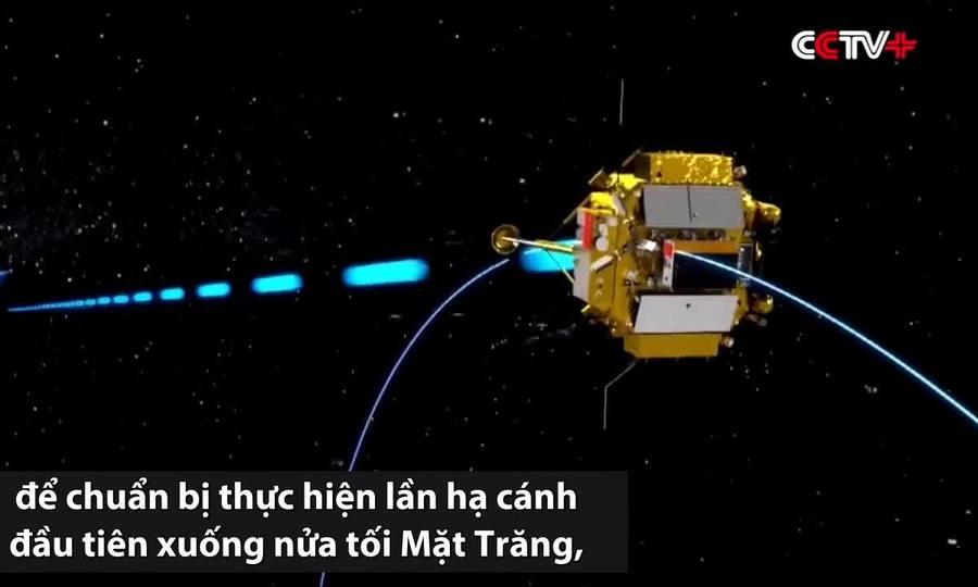 Tàu Trung Quốc đổi quỹ đạo, chuẩn bị đáp xuống Mặt Trăng