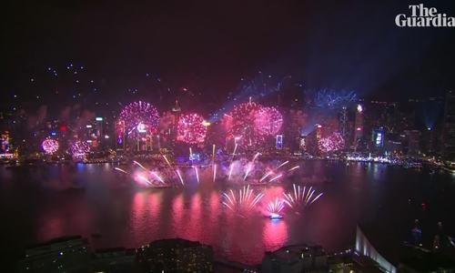 Pháo hoa mừng năm mới tại các nước châu Á và Australia