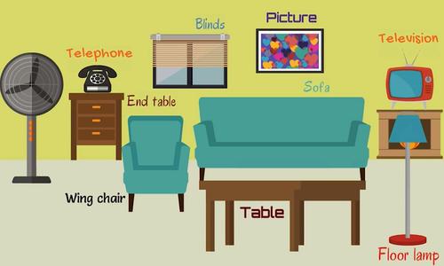 Cách phát âm các từ vựng chỉ đồ vật trong phòng khách