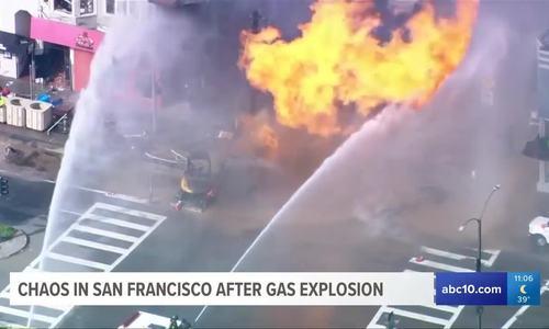 Nổ đường ống dẫn gas ở California, 5 toà nhà bị huỷ hoại