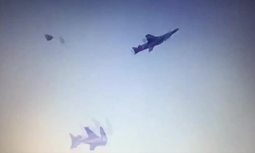 Crazy footage of 2 Indian jets colliding in mid-air (video)