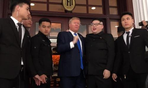 Bản sao Kim Jong-un và Trump đến Hà Nội