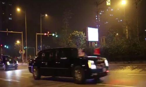 Đoàn xe ông Trump qua đường Võ Chí Công