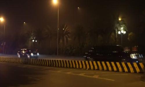 Đoàn xe ông Trump qua đường Võ Nguyên Giáp