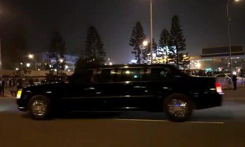 Đoàn xe Tổng thống Mỹ ở nhà ga VIPA