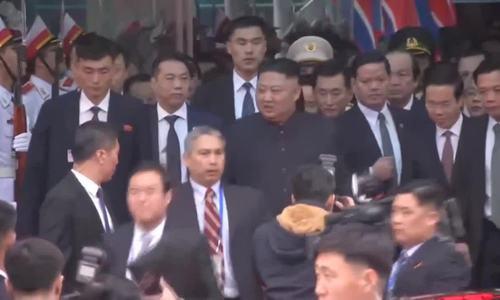 Đón tàu bọc thép của Chủ tịch Triều Tiên