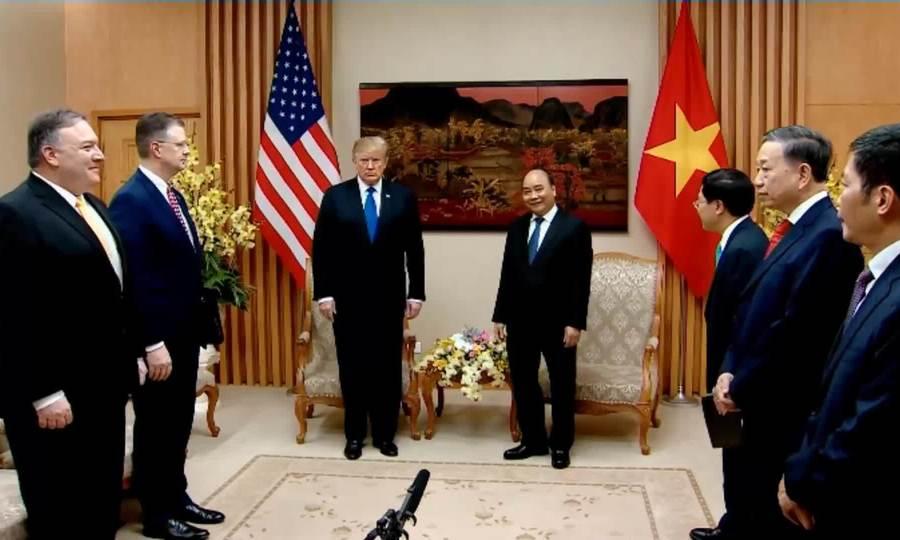 Tổng thống Mỹ hội kiến Thủ tướng Nguyễn Xuân Phúc