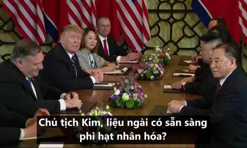 Lãnh đạo Mỹ - Triều trao đổi với báo chí sau phiên họp song phương