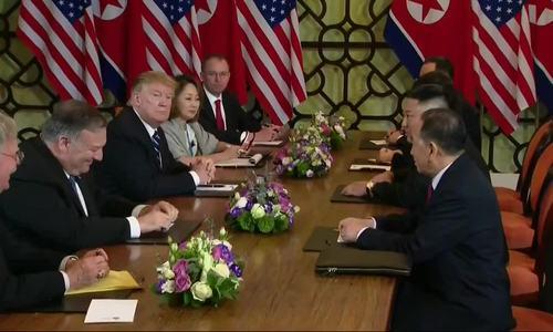 Phiên họp song phương mở rộng Trump - Kim