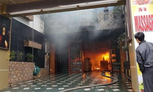 video vụ cháy gây chết người ở Hải Phòng