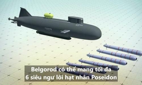 Tính năng tàu ngầm mang ngư lôi 'Thần biển' Nga sắp hạ thủy