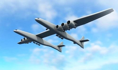Máy bay hai thân sải cánh lớn nhất thế giới cất cánh thành công