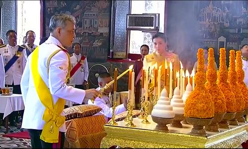 Quốc vương Thái Lan tham gia nghi lễ cuối cùng trước đăng quang