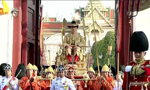 Lễ rước kiệu gần 7 tiếng của Quốc vương Thái Lan