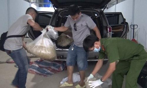 Hàng trăm cảnh sát lục soát kho ma túy 500 tỷ ở Sài Gòn