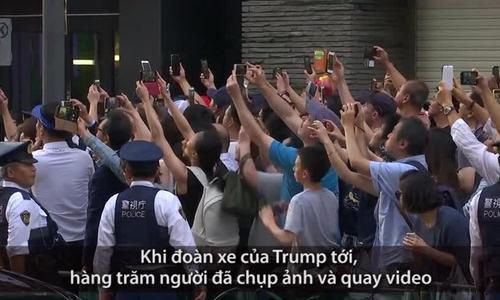 Hàng trăm người Nhật xếp hàng chờ Trump ở Tokyo