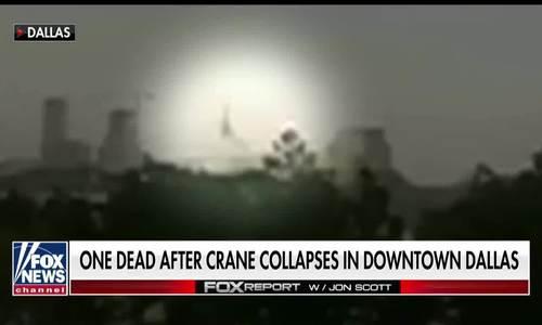 Gió quật cần cẩu đổ sập, xé nát tòa chung cư ở Mỹ