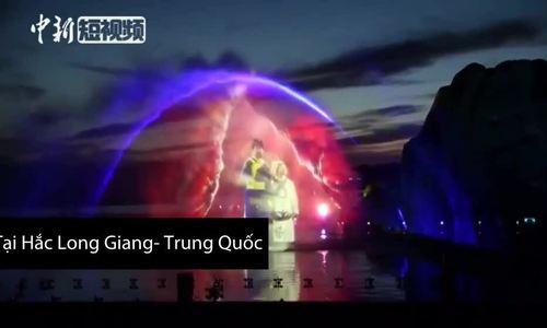 Màn biểu diễn kết hợp giữa ánh sáng laser và công nghệ 3D của Trung Quốc