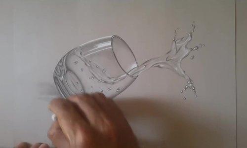 Cách vẽ cốc nước 3D