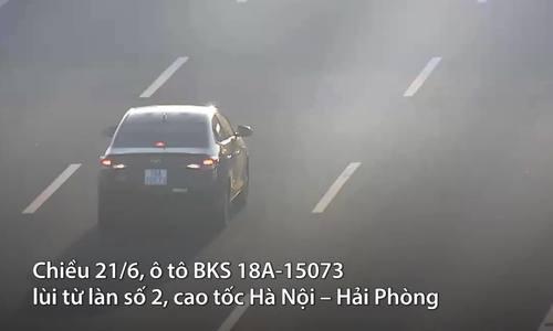 Lùi xe trên cao tốc Hà Nội – Hải Phòng