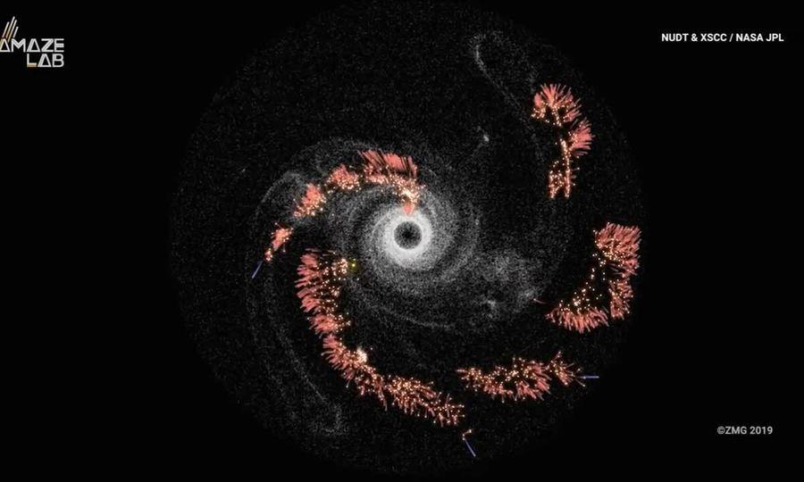 Đồ họa mô phỏng lộ trình chinh phục thiên hà của con người