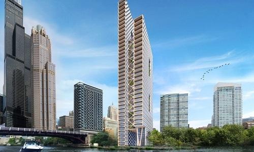 Mỹ sắp xây tòa cao ốc bằng gỗ 80 tầng bên sông Chicago