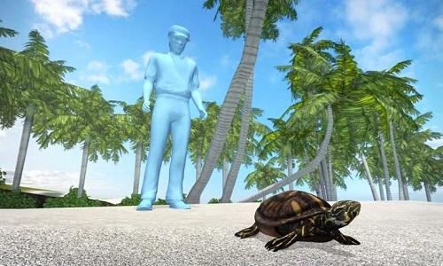 Rùa vỡ mai được cứu sống bằng áo ngực cũ
