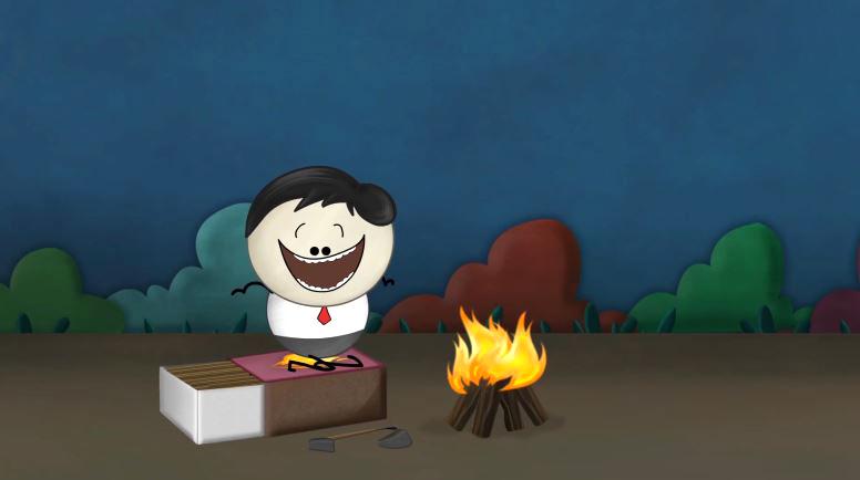 Vì sao diêm bốc cháy khi quẹt vào vỏ bao?