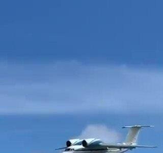 Máy bay vận tải hạ cánh bằng bụng - ảnh 1