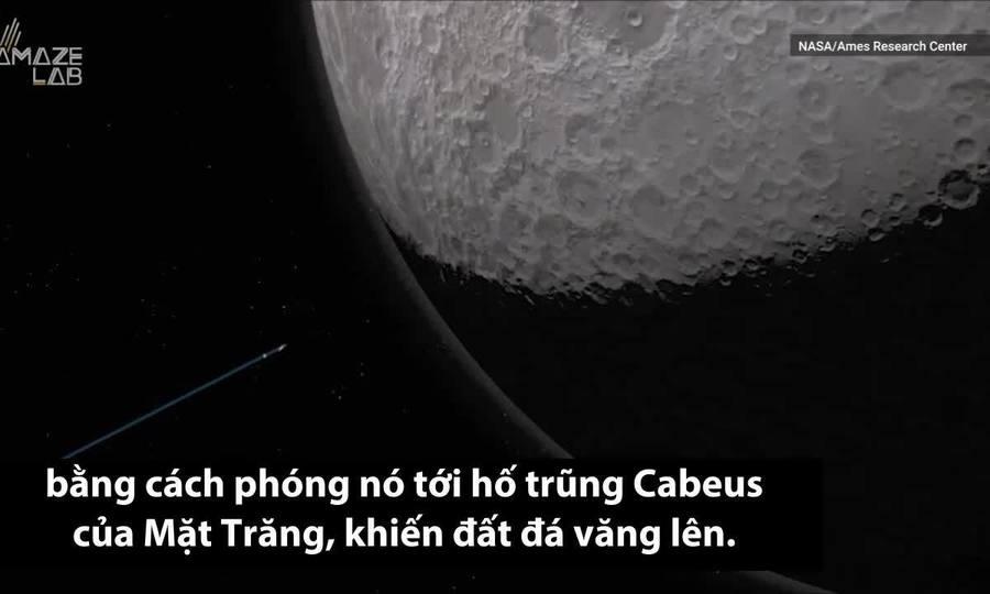 NASA từng bắn 'rác' xuống Mặt Trăng