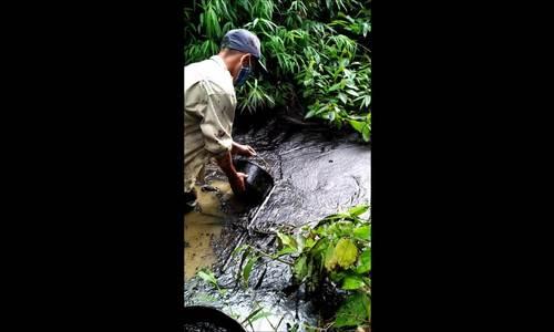 Nguồn nước sạch Hà Nội bị nhiễm dầu thải - ảnh 3