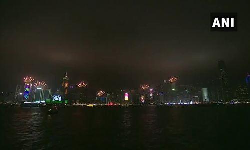 Bắn pháo hoa ở Hong Kong