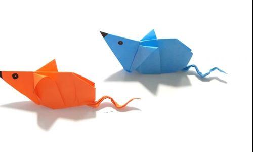 Dạy gấp chuột từ giấy