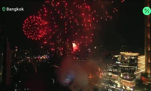 Bắn pháo hoa ở Thái Lan