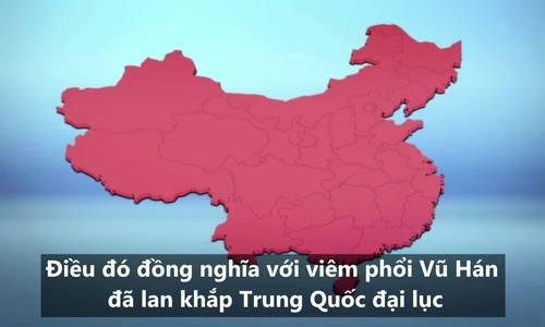 Viêm phổi Vũ Hán lan khắp lãnh thổ Trung Quốc