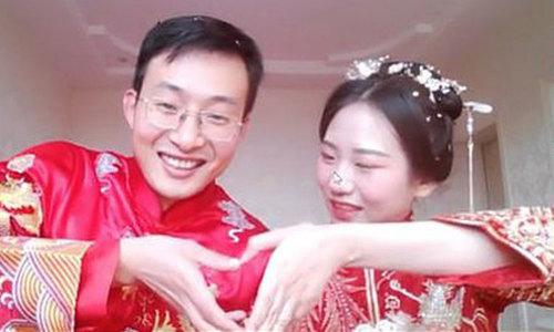 Cặp đôi Trung Quốc đón ba triệu 'khách' khi tổ chức đám cưới bằng livestream